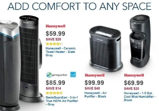 Best Buy Weekly Ad: Honeywell True HEPA Air Purifier for $99.99