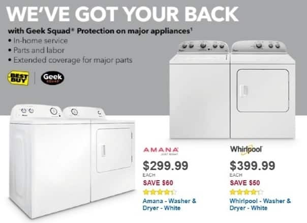 Best Buy Weekly Ad: Amana - 3.5 cu. ft. 8-Cycle Washer for $299.99
