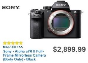 Best Buy Weekly Ad: Sony a7R Mark II Body for $2,899.99