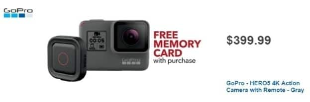 Best Buy Weekly Ad: GoPro HERO5 Black with Remo for $399.99