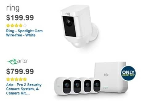 Best Buy Weekly Ad: Ring Spotlight Cam. Wire-Free - White for $199.99