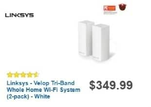 Best Buy Weekly Ad: Linksys Velop Whole-Home Wi-Fi System for $299.99