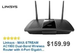 Best Buy Weekly Ad: Linksys Max Stream AC1900 Router for $139.99