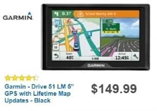 "Best Buy Weekly Ad: Garmin - Drive 51 LM 5"" GPS for $119.99"