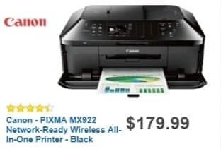 Best Buy Weekly Ad: Canon PIXMA MX922 Wireless Printer for $99.99