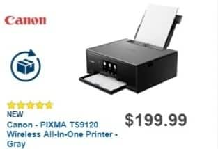 Best Buy Weekly Ad: Canon PIXMA TS9120 Wireless Printer for $149.99