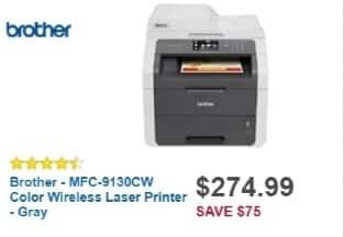 Best Buy Weekly Ad: Brother MFC-9130CW Wireless Laser Printer for $299.99