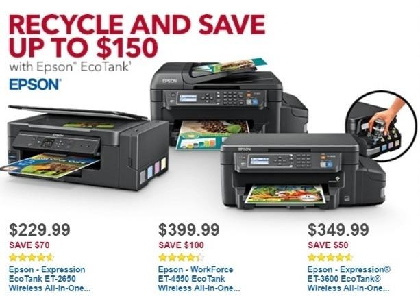 Best Buy Weekly Ad: Epson ET-4550 EcoTank Wireless Printer for $399.99