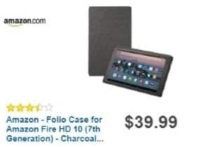 Best Buy Weekly Ad: Amazon Folio Case for Amazon Fire HD 10 (7th Generation) - Punch for $39.99