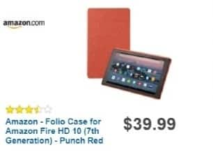 Best Buy Weekly Ad: Amazon Folio Case for AMZ Fire HD 10 (7th Gen) Blk for $39.99