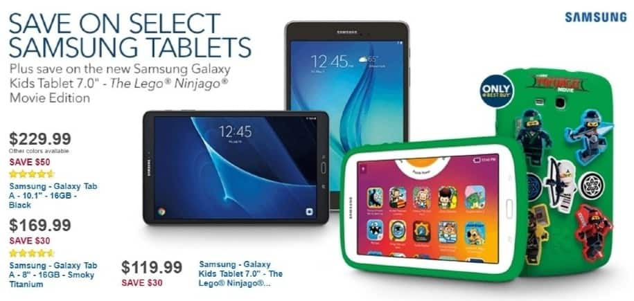 Best Buy Weekly Ad: Samsung Galaxy Tab A 8.0 for $169.99
