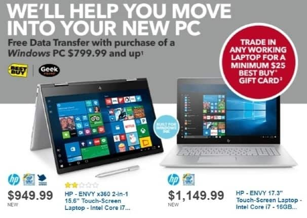Best Buy Weekly Ad: HP ENVY x360 with Intel Core i7 Processor for $949.99