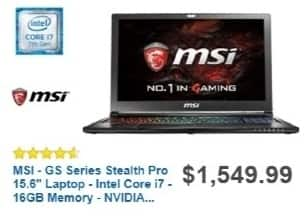Best Buy Weekly Ad: MSI Laptop with Intel Core i7 Processor for $1,449.99