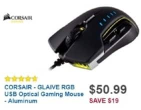 Best Buy Weekly Ad: Corsair Glaive RGB USB Optical Gaming Mouse for $50.99