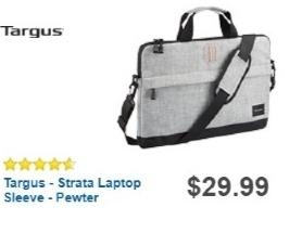 "Best Buy Weekly Ad: Targus 15.6"" Strata Laptop Slip Case - Pewter for $23.99"