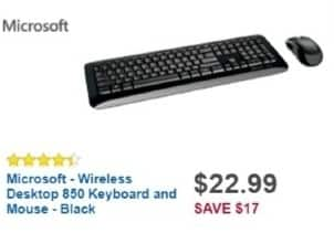 Best Buy Weekly Ad: Microsoft Wireless Desktop 850 Keyboard and Mouse for $24.99