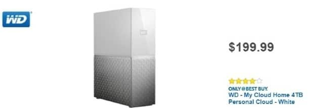 Best Buy Weekly Ad: WD - My Cloud Home 4TB for $199.99
