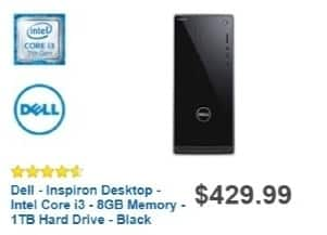 Best Buy Weekly Ad: Dell Desktop with Intel Core i3 Processor for $369.99
