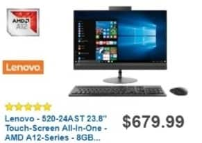 Best Buy Weekly Ad: Lenovo All-in-One Computer with AMD A12 Processor for $629.99