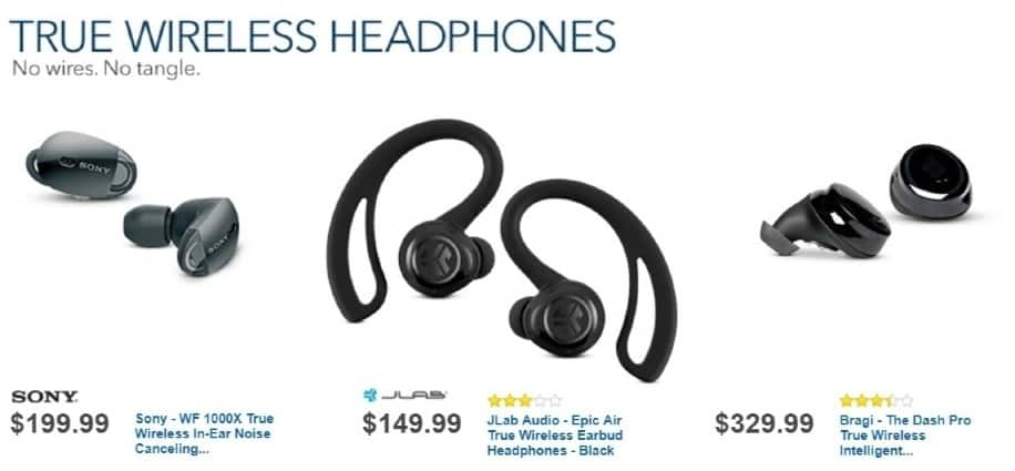 Best Buy Weekly Ad: Sony 1000x True Wireless Noise Cancelling Headphones for $199.99