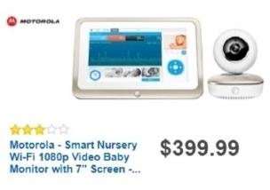 "Best Buy Weekly Ad: Motorola Smart Nursery 7"" Wi-Fi Baby Monitor for $399.99"
