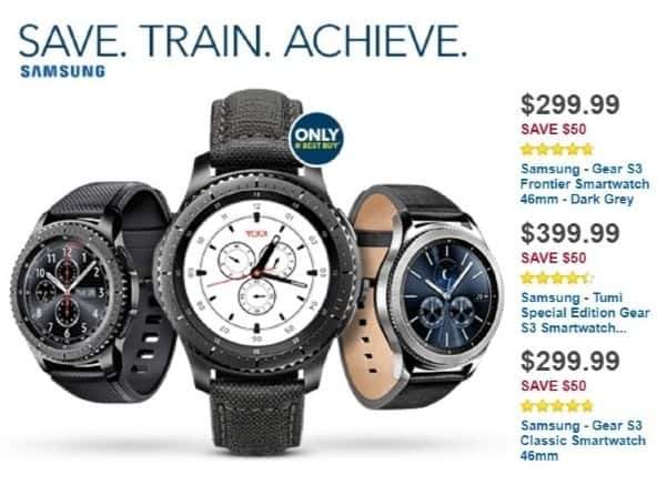 Best Buy Weekly Ad: Gear S3 frontier TUMI Edition for $399.99