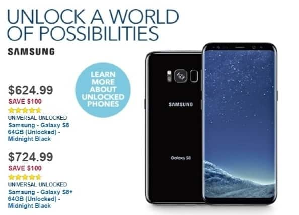 Best Buy Weekly Ad: Unlocked Samsung Galaxy S8 for $624.99
