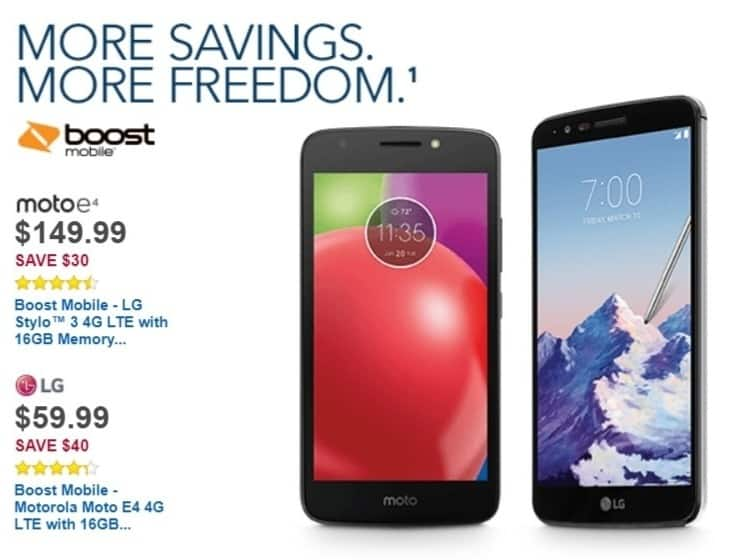 Best Buy Weekly Ad: Boost Mobile Moto E4 for $59.99
