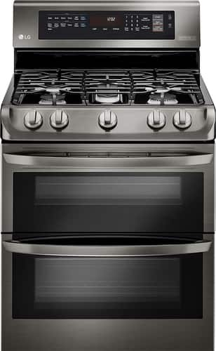 Best Buy Weekly Ad: LG - 6.9 cu. ft. Gas Double Oven Convection Range for $1,799.99