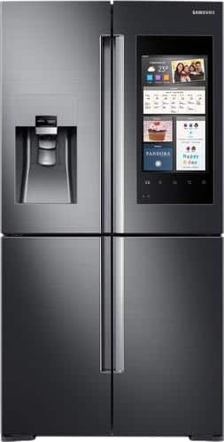 Best Buy Weekly Ad: Samsung - Family Hub 2.0 22.0 cu. ft. 4-Door Flex French Door Counter-Depth Refrigerator for $3,599.99