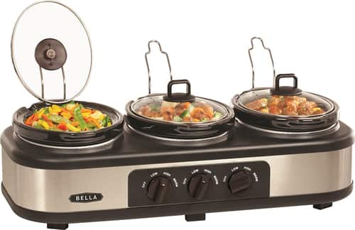 Best Buy Weekly Ad: Bella 3 x 1.5-Quart Triple Slow Cooker for $27.99