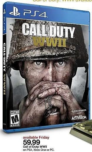 Target Weekly Ad: Call of Duty: WWII - PlayStation 4 for $59.99