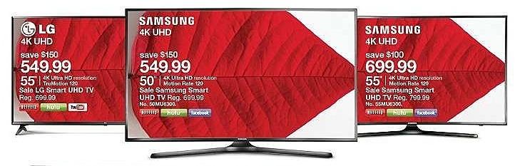 """Target Weekly Ad: Samsung® 55"""" Class 2160p 4K Smart Ultra HD TV - UN55MU6300 for $699.99"""