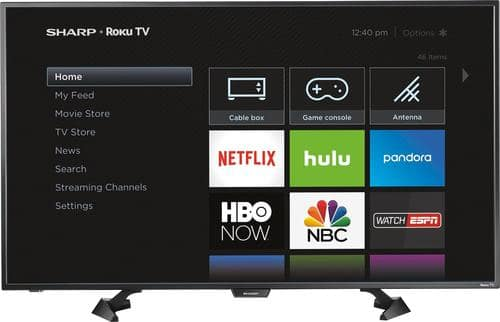 "Best Buy Weekly Ad: Sharp - 43"" Class LED 1080p Smart HDTV (Roku TV) for $279.99"