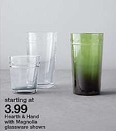 Target Weekly Ad: Juice Glass - Clear - Hearth & Hand™ with Magnolia for $3.99