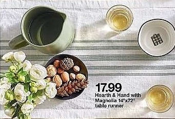 Target Weekly Ad: Woven Plaid Table Runner - Green/Black - Hearth & Hand™ with Magnolia for $17.99