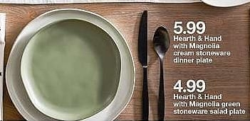 Target Weekly Ad: Stoneware Dinner Plate - Hearth & Hand™ with Magnolia for $5.99