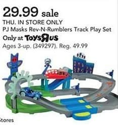 Toys R Us Black Friday: PJ Masks Rev-N-Rumblers Track Play Set for $49.99