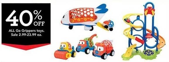 Toys R Us Black Friday: All Go Gripper Toys - 40% Off
