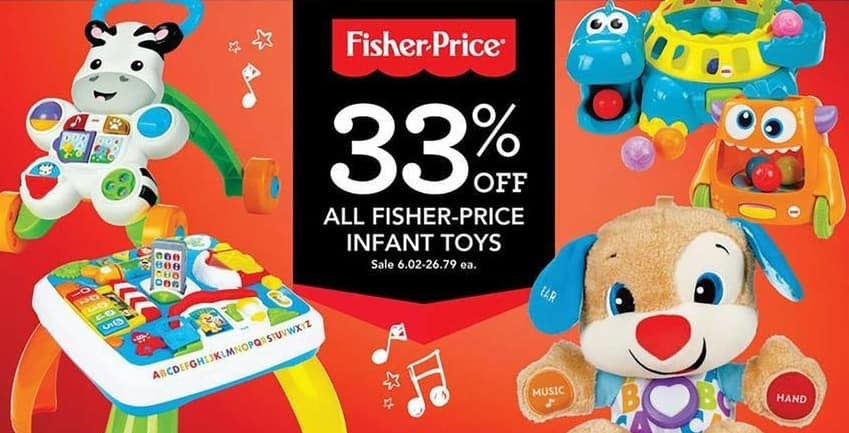 Toys R Us Black Friday: All Fisher-Price Infant Toys - 33% Off