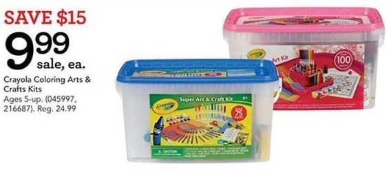Toys R Us Black Friday: Crayola Coloring Arts and Crafts Kits for $9.99