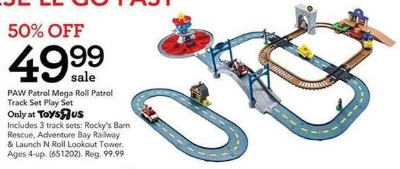 Toys R Us Black Friday: PAW Patrol Mega Roll Patrol Track Set Play Set for $49.99