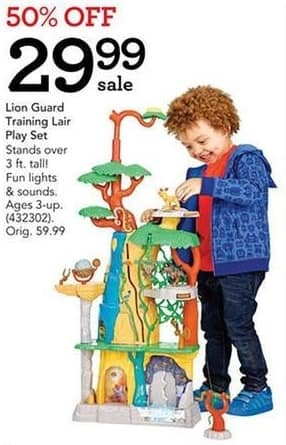 Toys R Us Black Friday: Lion Guard Training Lair Play Set for $29.99