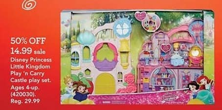 Toys R Us Black Friday: Disney Princess Little Kingdom Play 'n Carry Castle Play Set for $14.99