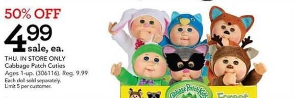 Toys R Us Black Friday: Cabbage Patch Cuties for $4.99