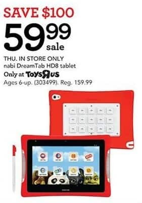 Toys R Us Black Friday: nabi DreamTab HD8 tablet for $59.99