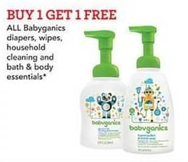 Toys R Us Black Friday: All Babyganics Diapers, Wipes, Household Cleaning and Bath & Body Essentials - B1G1 Free