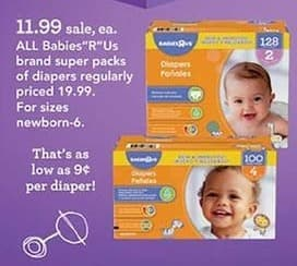 "Toys R Us Black Friday: All Babies""R""US Brand Super Packs of Diapers for $11.99"