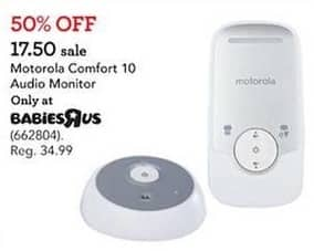 Toys R Us Black Friday: Motorola Comfort 10 Audio Monitor for $17.50