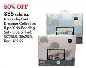Toys R Us Black Friday: NoJo Elephant Dreamer Collection 8-pc. Crib Bedding Set for $85.00